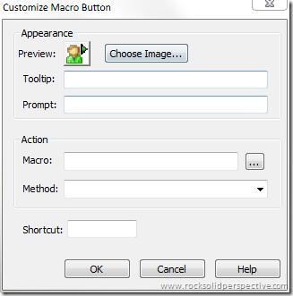 Macro Button Dialog